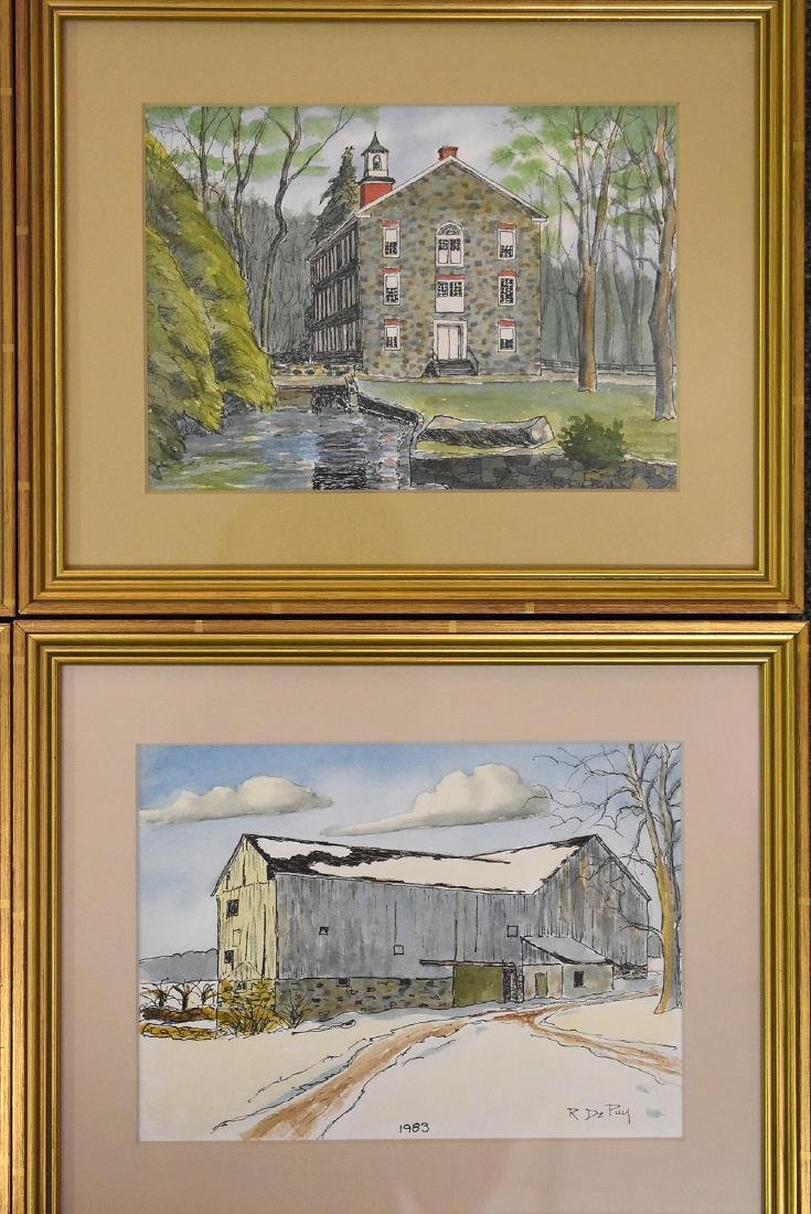Robert DePuy. Four Watercolor Landscapes - 3