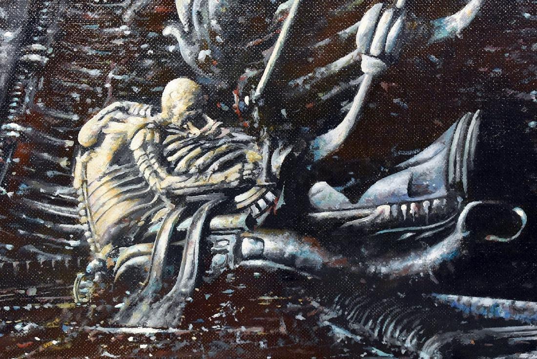 Tony Fachet. Oil on Panel Illustration, Alien - 2