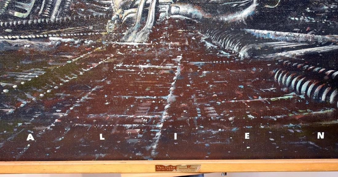 Tony Fachet. Oil on Panel Illustration, Alien - 3