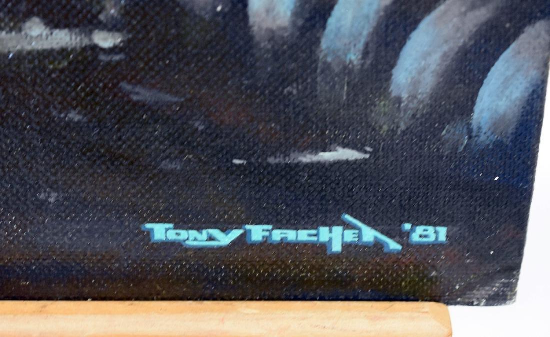 Tony Fachet. Oil on Panel Illustration, Alien - 4