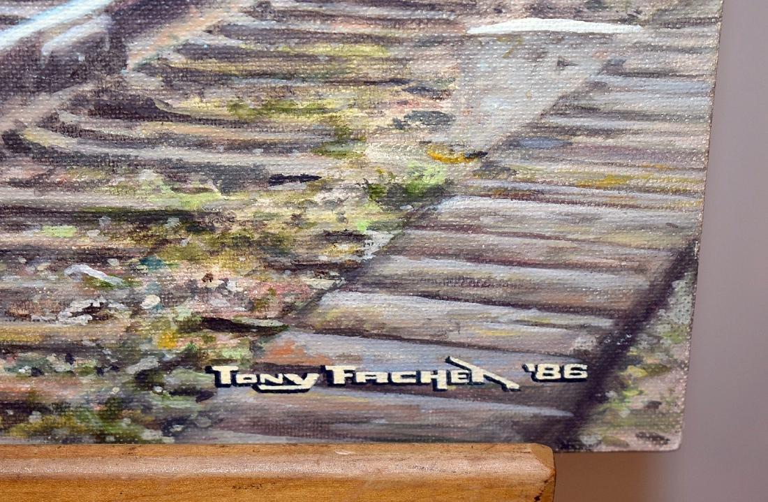 Tony Fachet. Oil on Panel, Missouri Pacific Lines 337 - 3