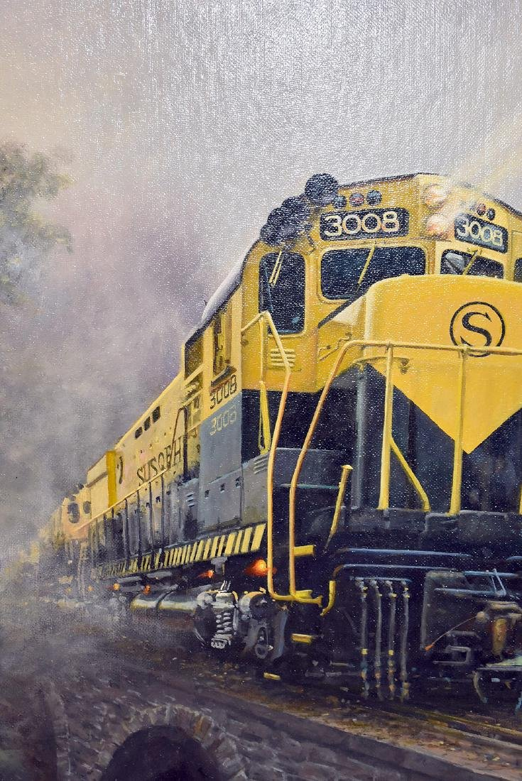 Tony Fachet. Oil on Panel, Railroad Bridge - 2