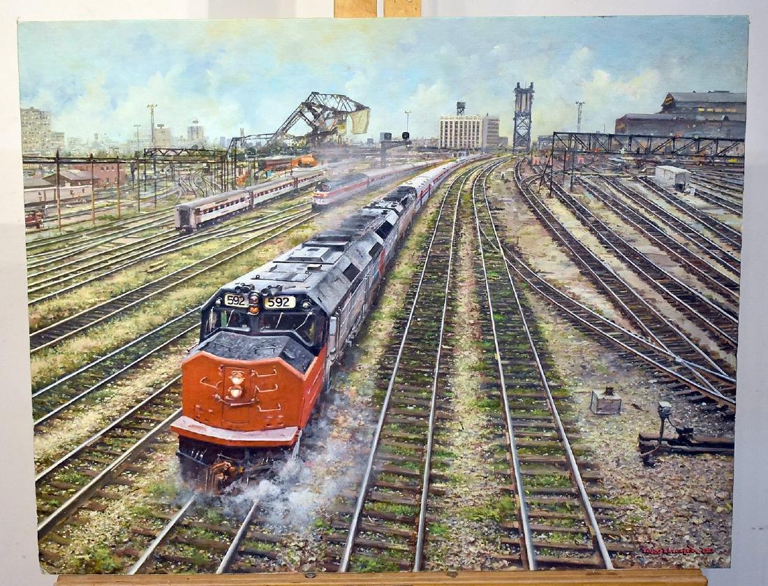 Tony Fachet. Oil on Panel, Railroad Junction