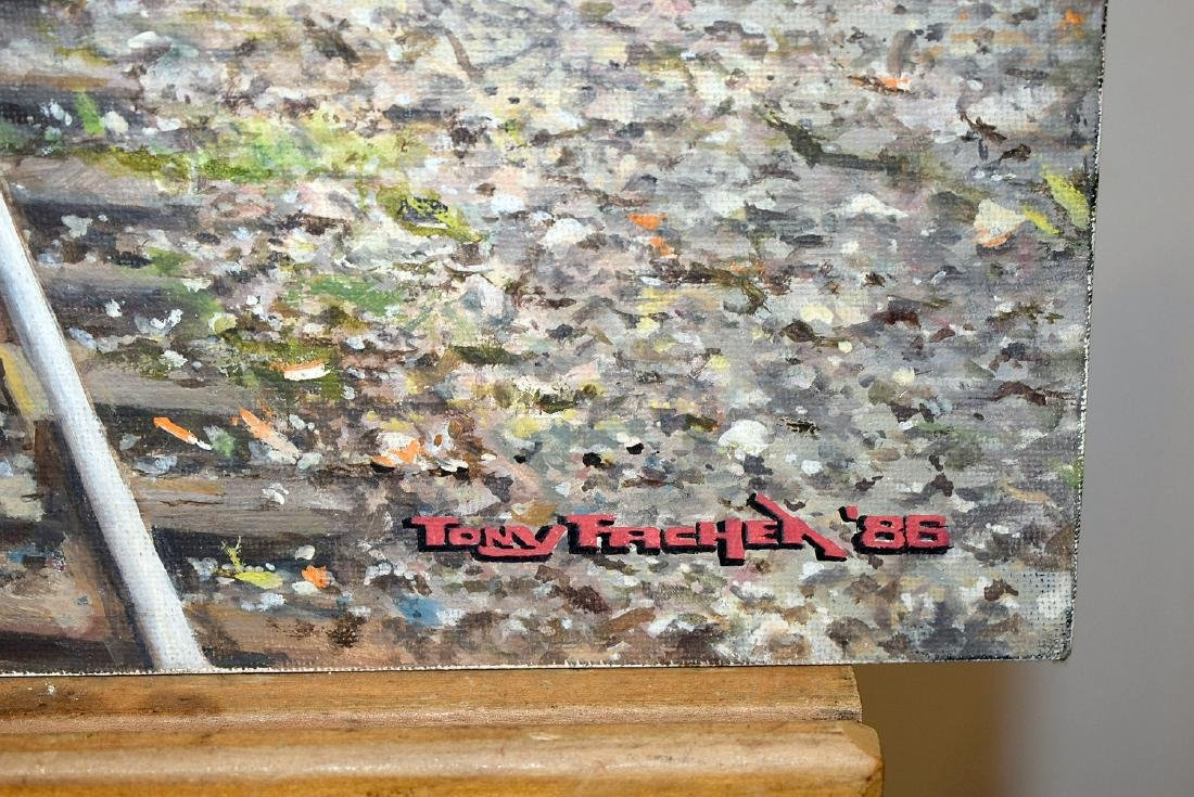 Tony Fachet. Oil on Panel, Railroad Junction - 3