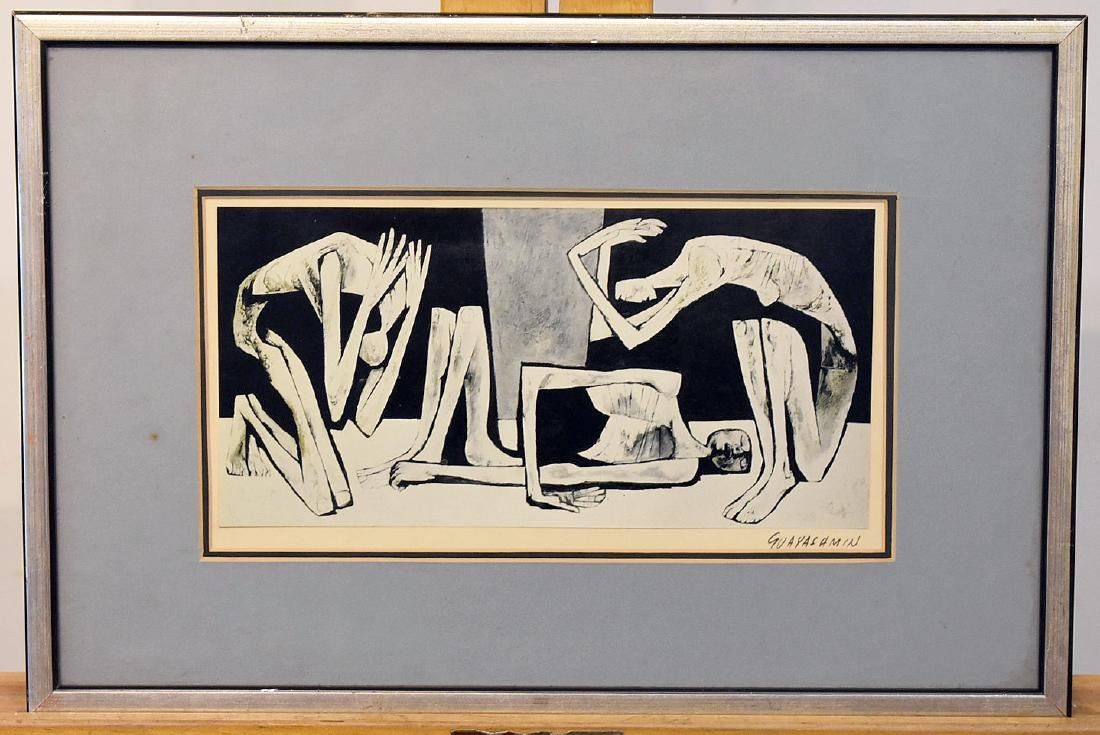 Oswaldo Guayasamin. Lithograph on Paper, Figures