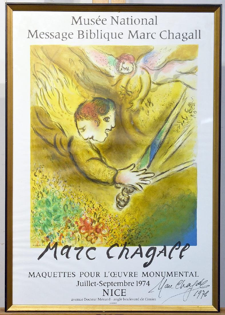 Marc Chagall. Signed Musee National Poster