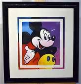Peter Max. Serigraph, Mickey Mouse