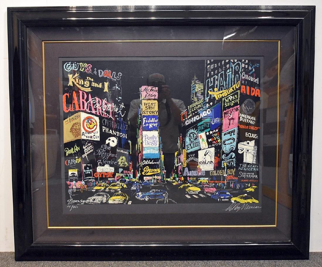 Leroy Neiman. Serigraph, Times Square