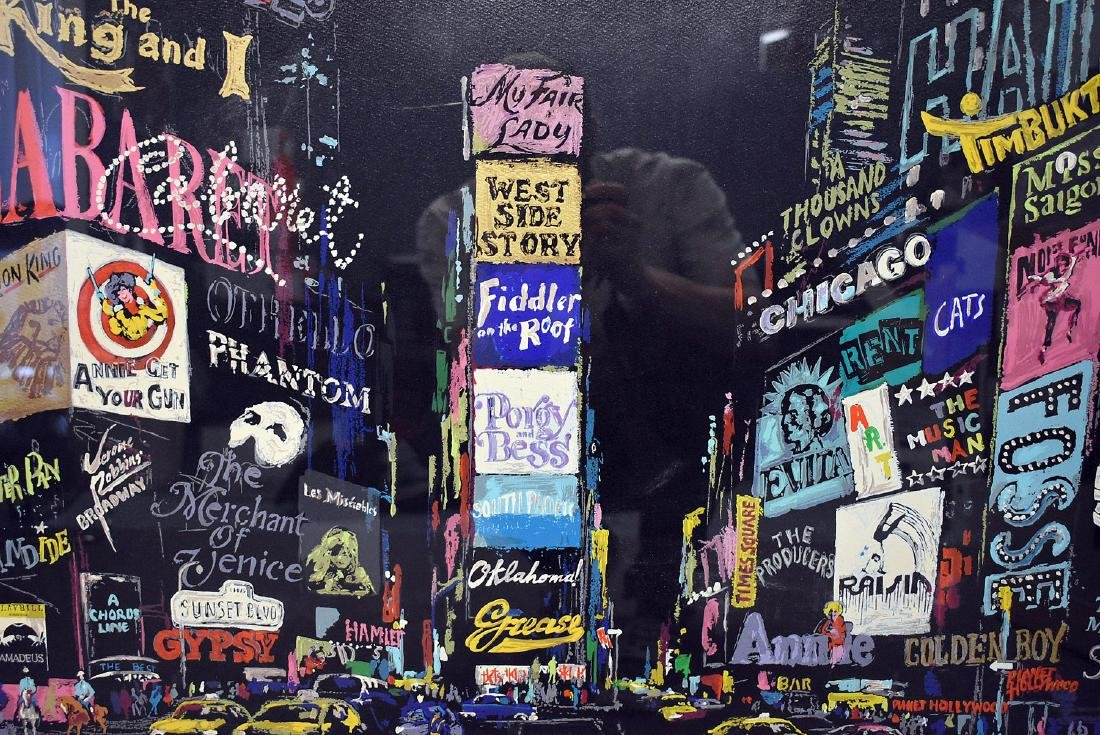 Leroy Neiman. Serigraph, Times Square - 2
