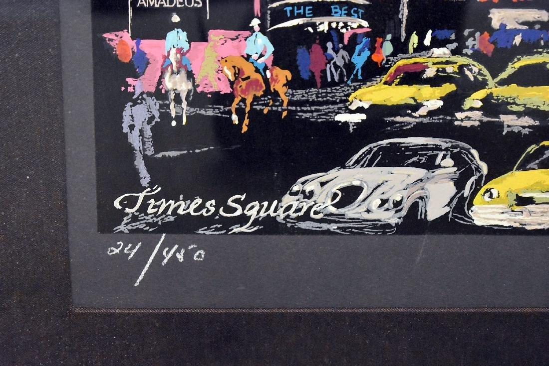 Leroy Neiman. Serigraph, Times Square - 4