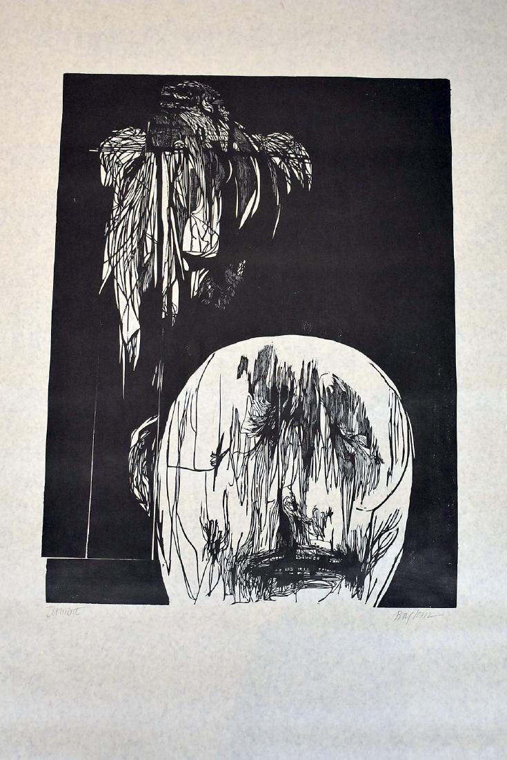 Leonard Baskin. Woodcut, Torment