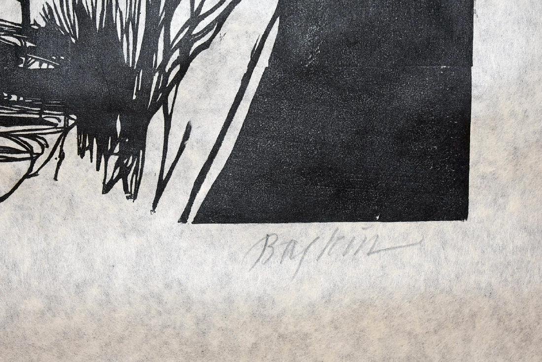Leonard Baskin. Woodcut, Torment - 2