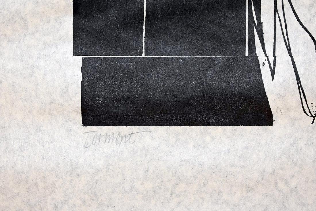 Leonard Baskin. Woodcut, Torment - 3