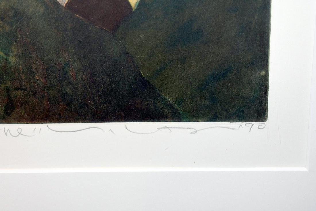 Yuji Hiratsuka. Etching, Three Stances - 3