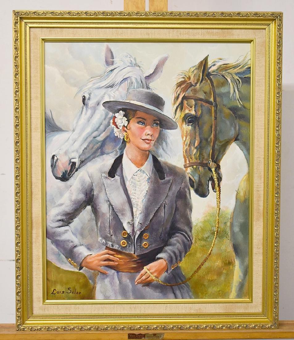 Luis Soler. Oil on Canvas, Amigos