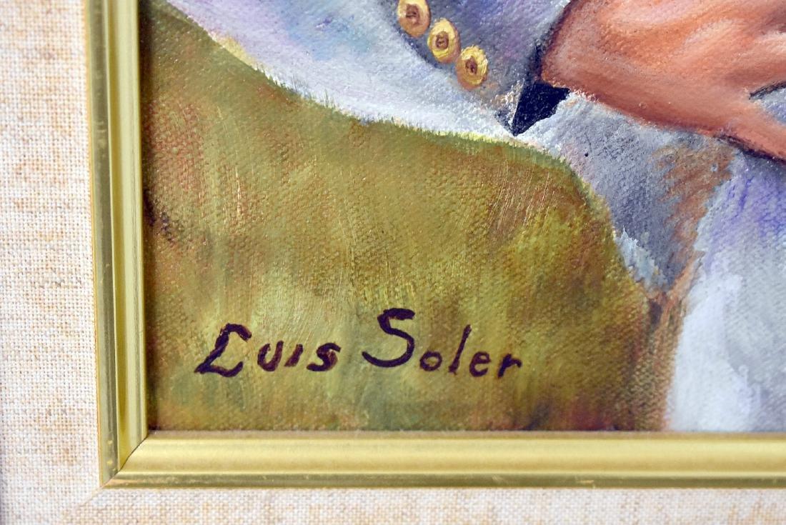 Luis Soler. Oil on Canvas, Amigos - 2