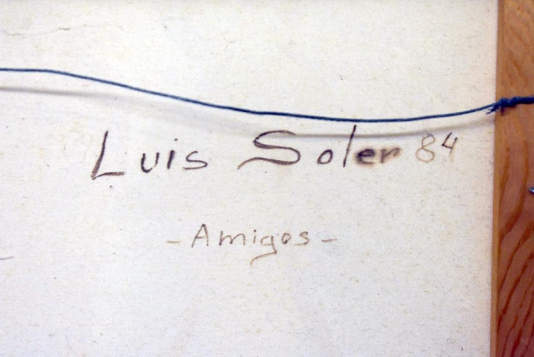 Luis Soler. Oil on Canvas, Amigos - 3