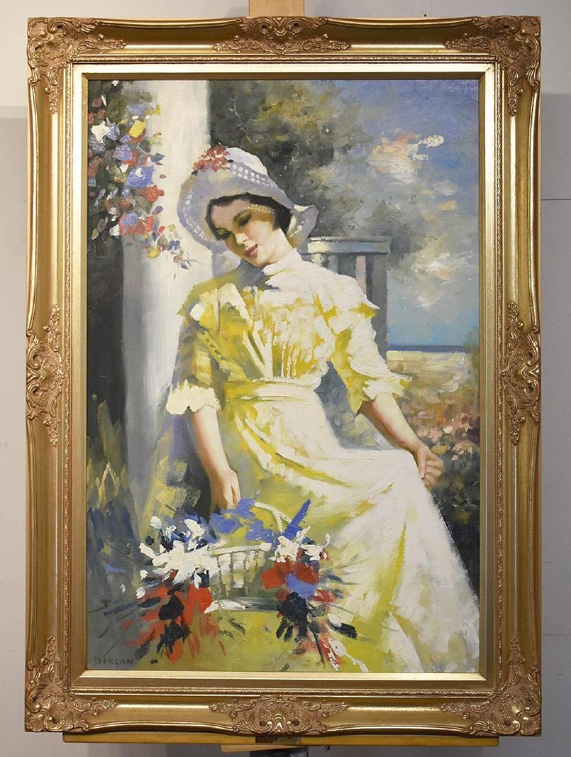 Morgan. Oil on Panel, Yellow Dress