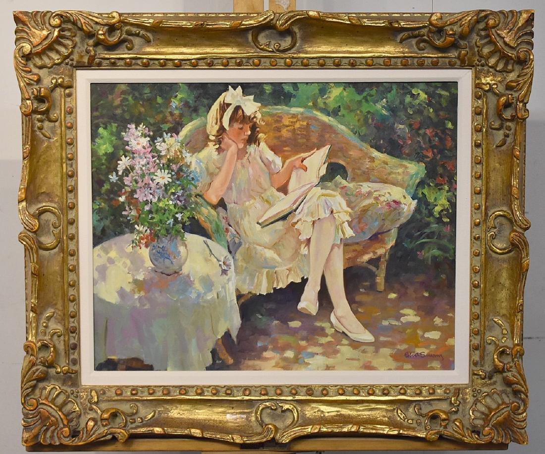 Robert Sarsony. Oil on Canvas, Favorite Book