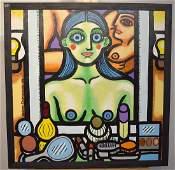 Hiram Dominguez. Acrylic & Ink on Canvas