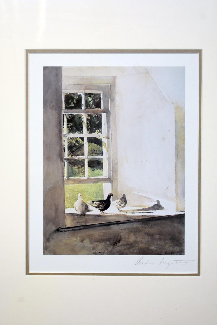 Pencil Signed Andrew Wyeth Print, Windowsill - 2