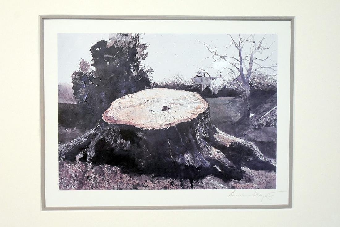 Pencil Signed Andrew Wyeth Print, The Big Oak - 2