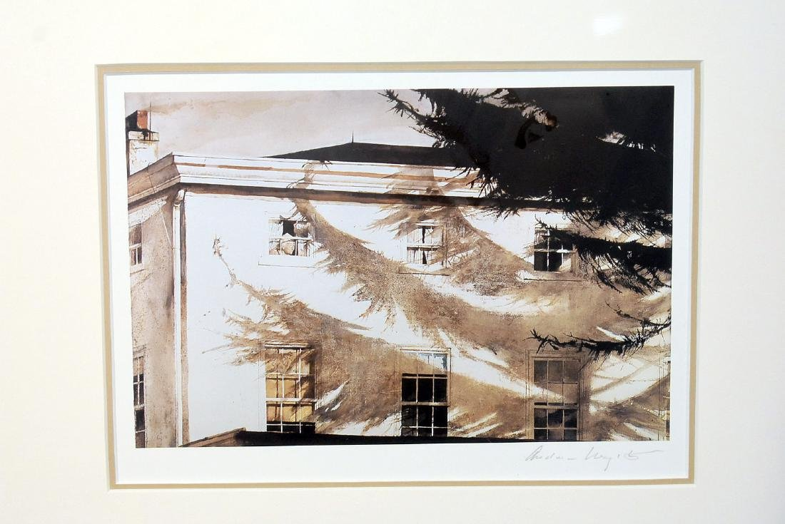 Pencil Signed Andrew Wyeth Print, Building - 2