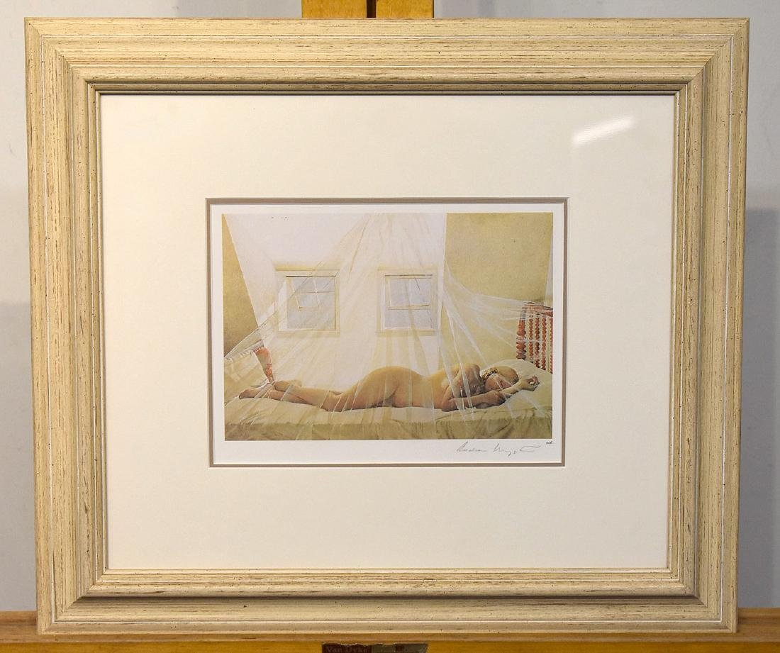 Pencil Signed Andrew Wyeth Print, Day Dream