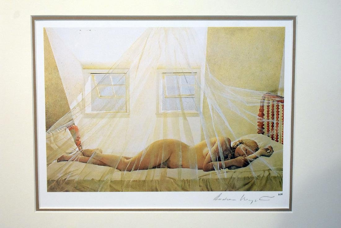 Pencil Signed Andrew Wyeth Print, Day Dream - 2