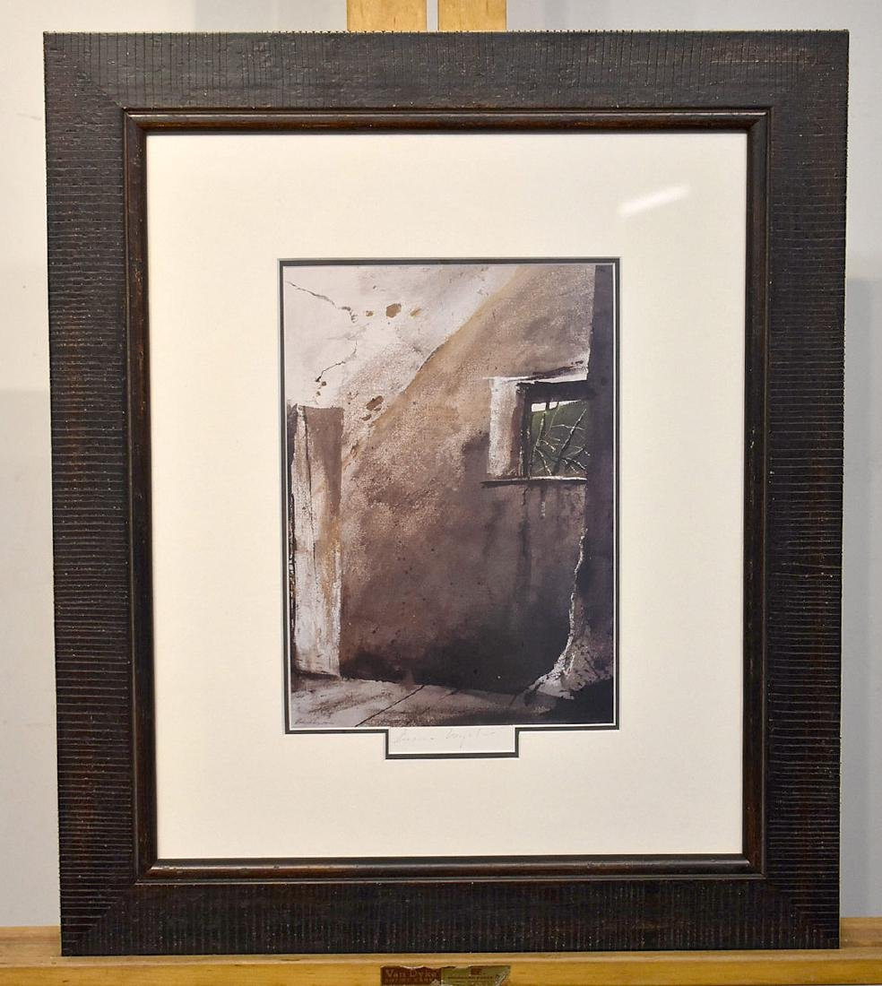 Pencil Signed Andrew Wyeth Print. Shed