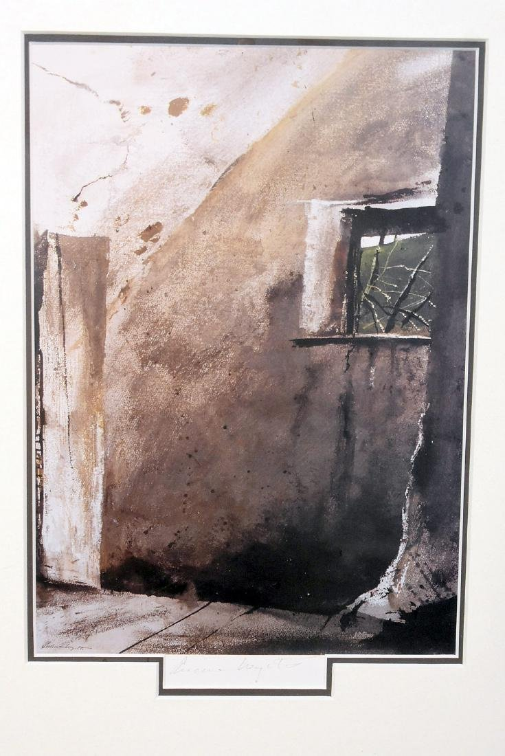 Pencil Signed Andrew Wyeth Print. Shed - 2