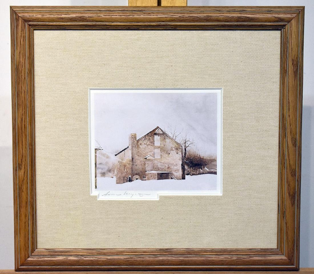 Pencil Signed Andrew Wyeth Print, Kuerner's Farm