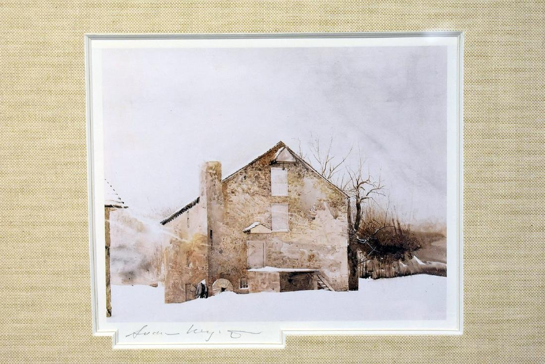 Pencil Signed Andrew Wyeth Print, Kuerner's Farm - 2