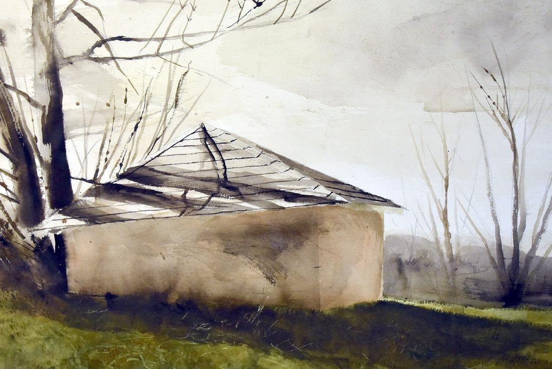 Sebastian Upson. Watercolor, Octagonal Schoolhouse - 2