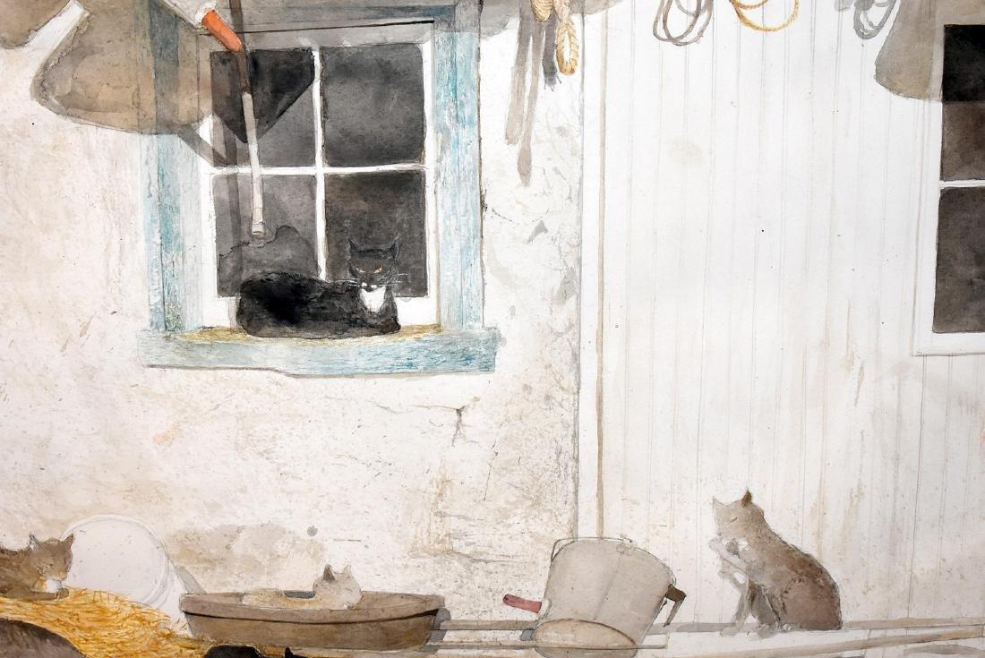 Sebastian Upson. Watercolor, Barn Cats - 2