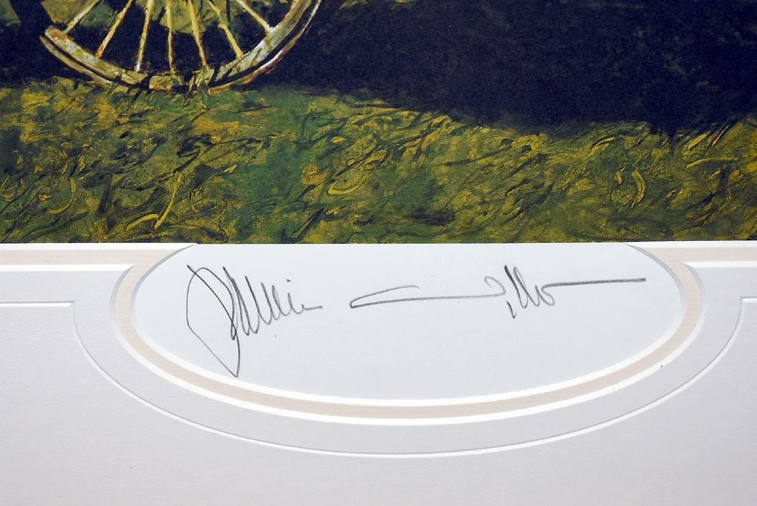 Signed Jamie Wyeth Print, Rolling Cart - 2