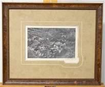 Pencil Signed Andrew Wyeth Print Quaker Ladies