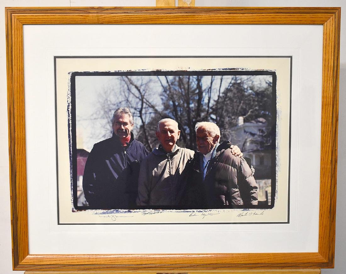 Signed Group Photograph with Andrew Wyeth