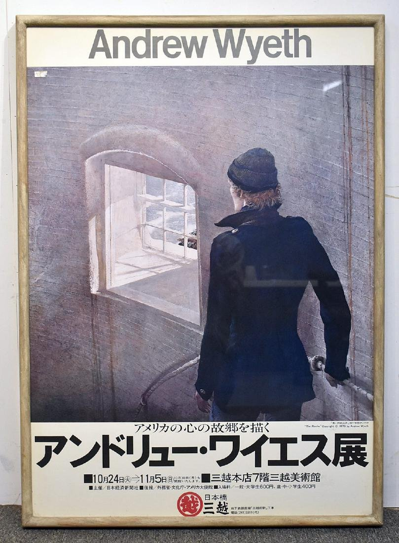 Rare Signed Andrew Wyeth Japanese Poster