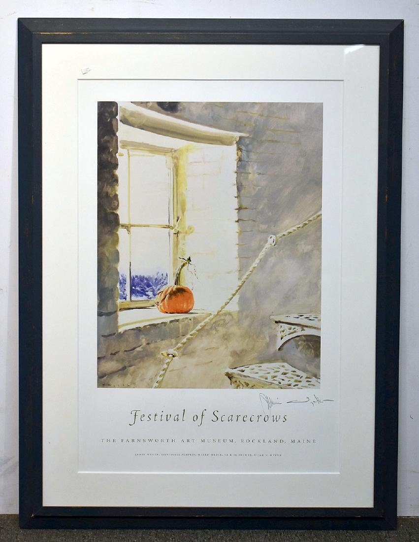 Signed Jamie Wyeth Poster, Festival of Scarecrows