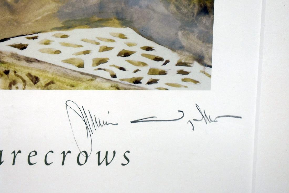 Signed Jamie Wyeth Poster, Festival of Scarecrows - 2
