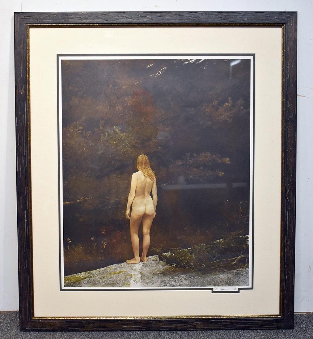 Signed Andrew Wyeth Print, Helga