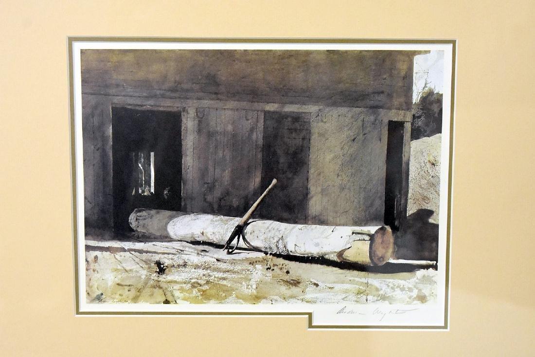 Signed Andrew Wyeth Print, Farm Landscape - 2