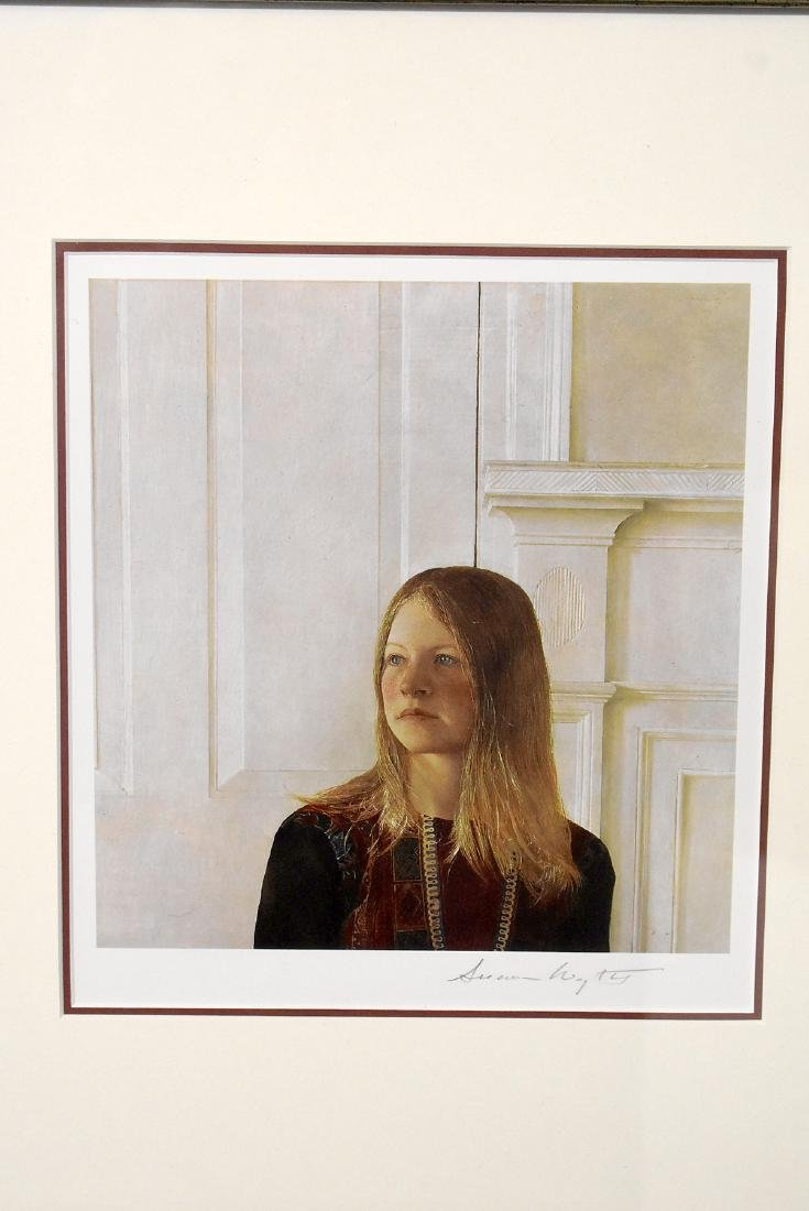 Signed Andrew Wyeth Print, Portrait of a Girl - 2