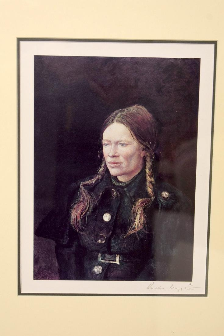 Signed Andrew Wyeth Print, Helga - 2