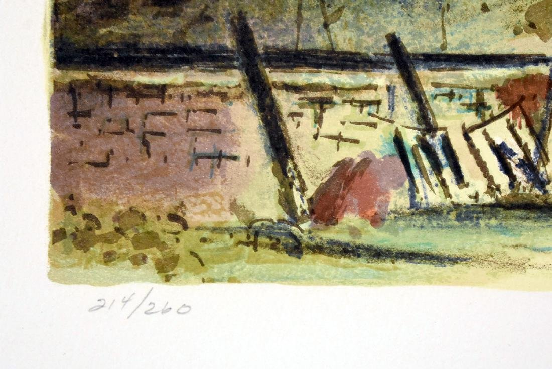 Peter Hurd. Signed Lithograph, Windmill Landscape - 3