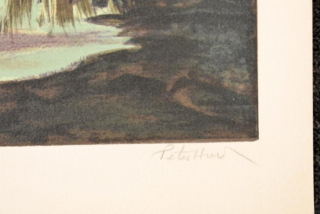 Peter Hurd. Signed Lithograph, Evening Landscape - 2