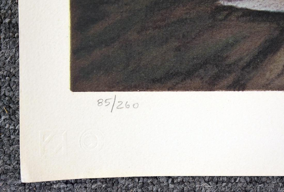 Peter Hurd. Signed Lithograph, Evening Landscape - 3