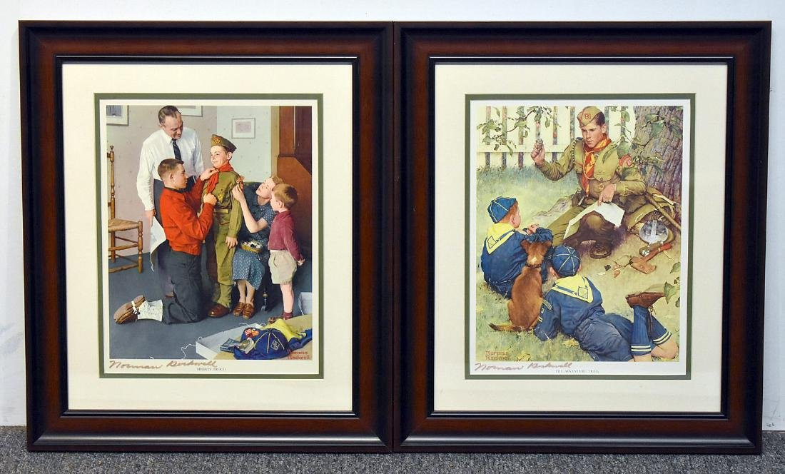 Two Signed Norman Rockwell Prints