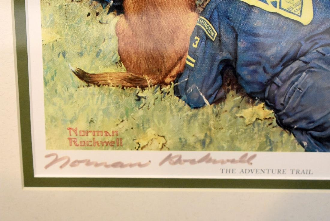 Two Signed Norman Rockwell Prints - 3